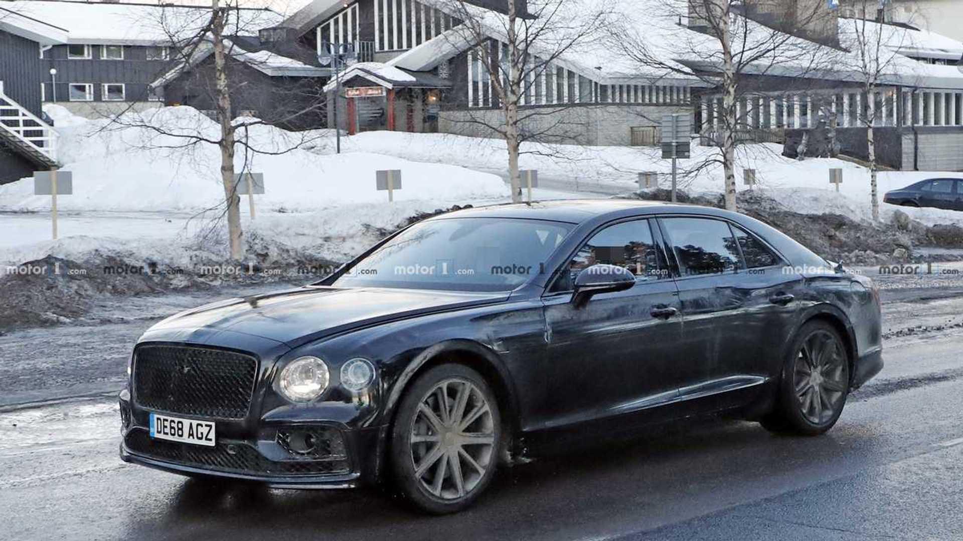 2019 - [Bentley] Flying Spur - Page 2 Bentley-flying-spur-phev-spy-photo