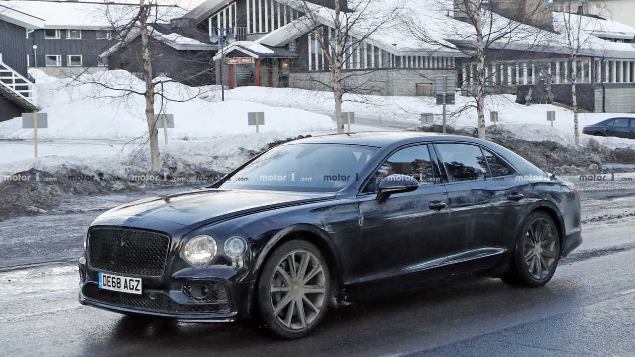 Bentley Flying Spur PHEV photos espion