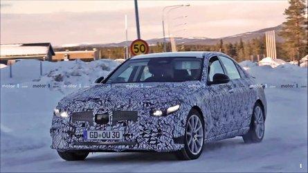 Появилось видео с испытаний нового Mercedes-Benz C-class