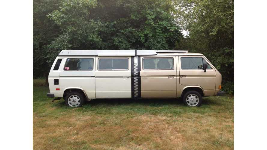 DIY Project: Salvaged Tesla Model S to Underpin Stretched Volkswagen Vanagon Body (w/video)