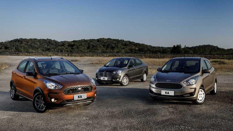 Ford Ka tem 4.346 unidades convocadas por falha no airbag