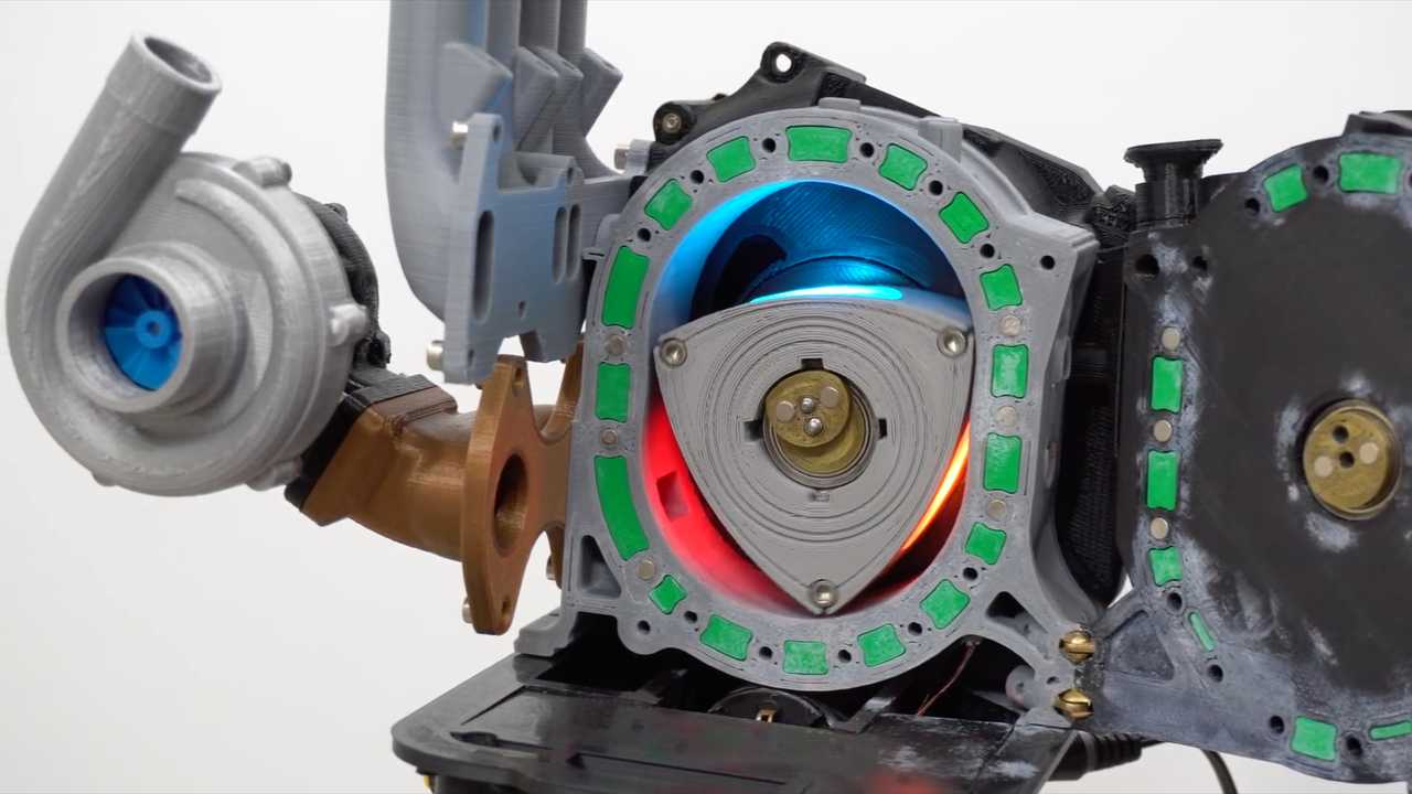 Printed Mazda Rotary Engine