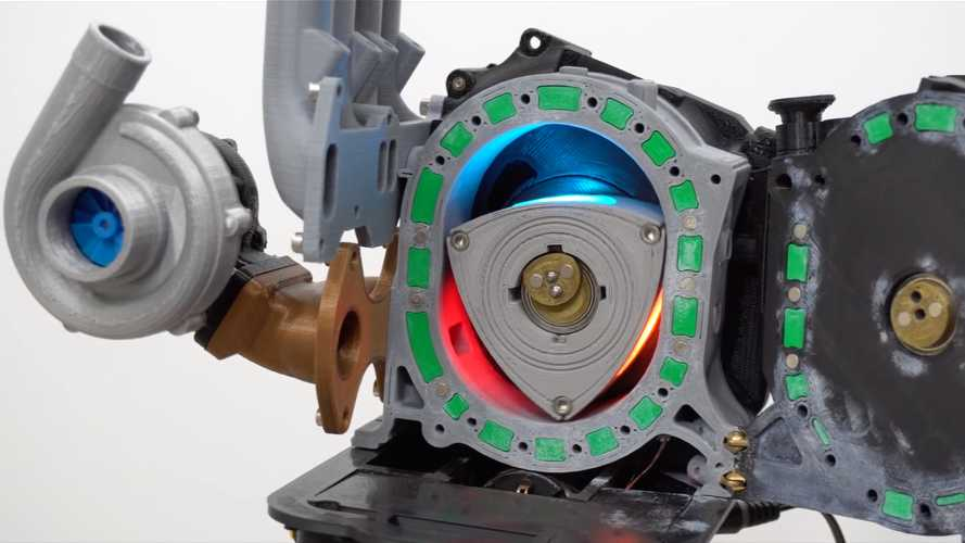 3D printed Mazda rotary engine