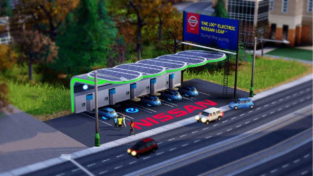 Nissan Even Has A Charging Station Online In SimCity (In-Game Video)