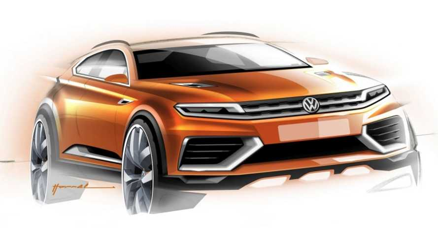 Volkswagen Teases Plug-In Hybrid CrossBlue Coupe Concept Ahead of Shanghai Motor Show Debut
