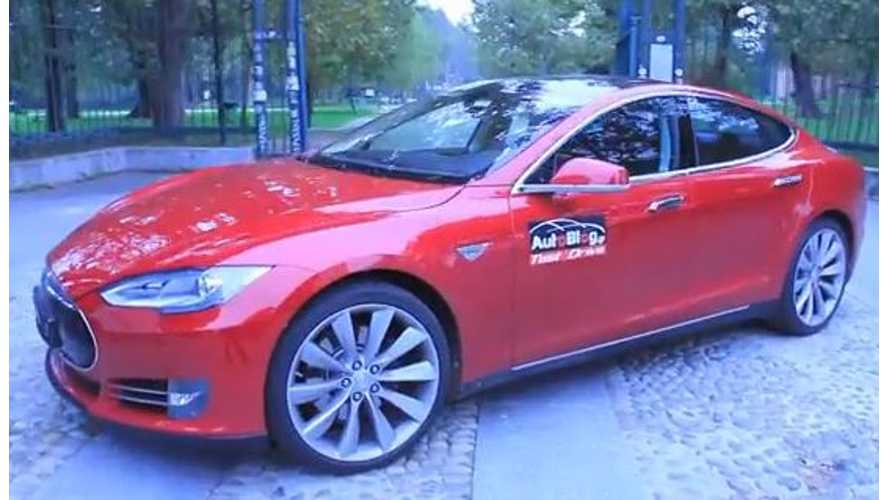 Video: First Greek Test Drive of Tesla Model S