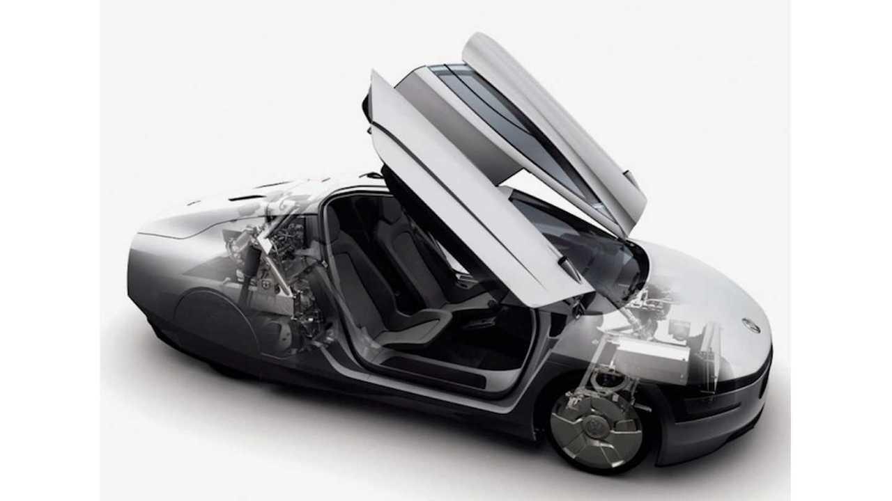 Volkswagen XL 1 Concept Cutaway Featuring Gullwing Doors