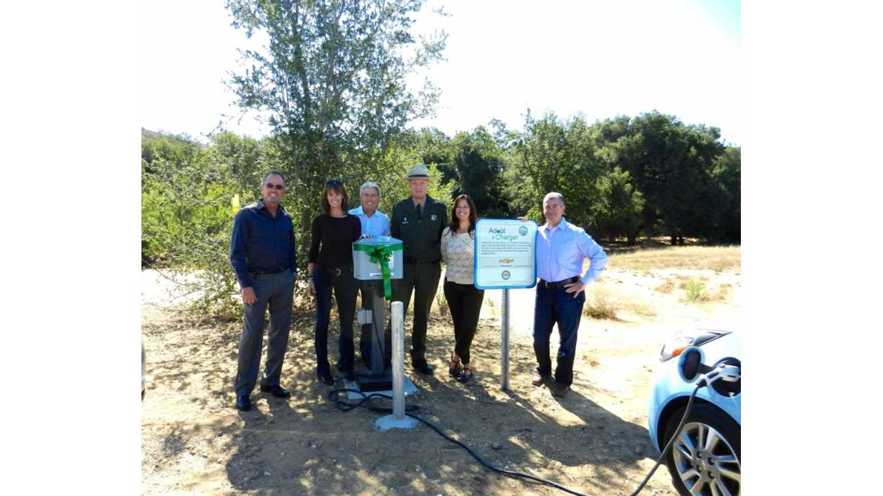 Chevrolet Funds Install of Public Chargers at 2 State Parks in California