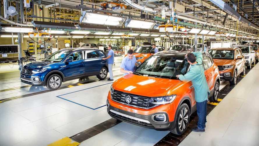 Volkswagen retoma 2º turno na fábrica do T-Cross