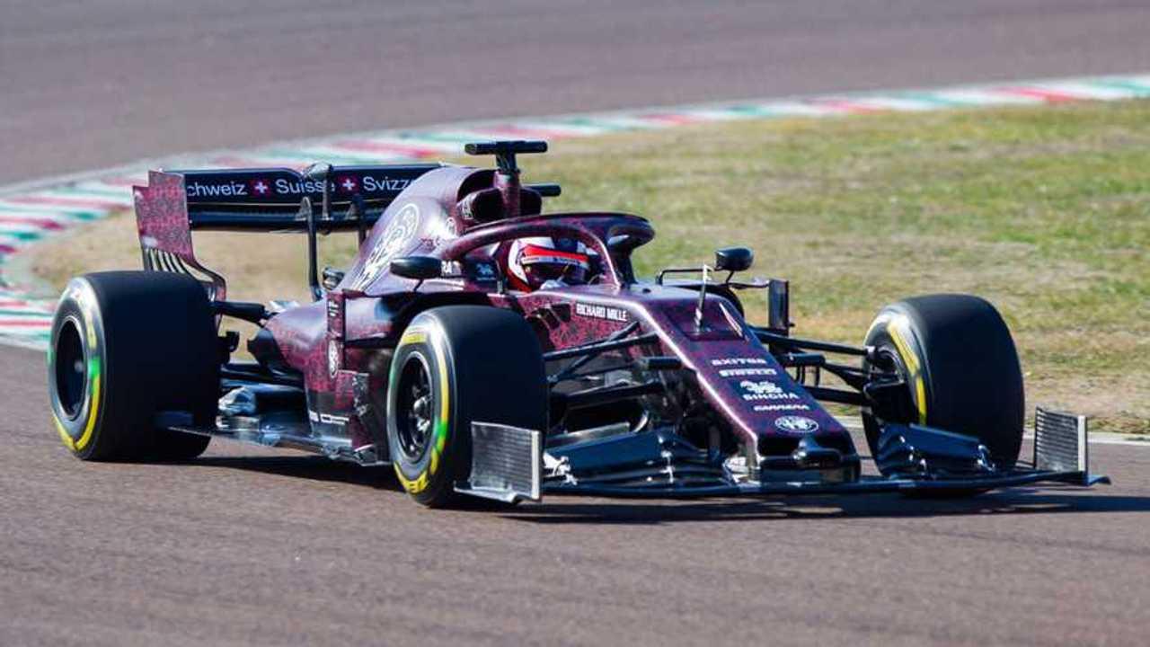 Kimi Raikkonen in Alfa Romeo F1 car during Fiorano shakedown