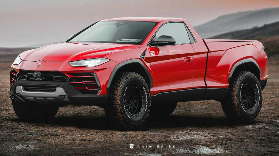Lamborghini Urus prepares for pickup duty in weird render