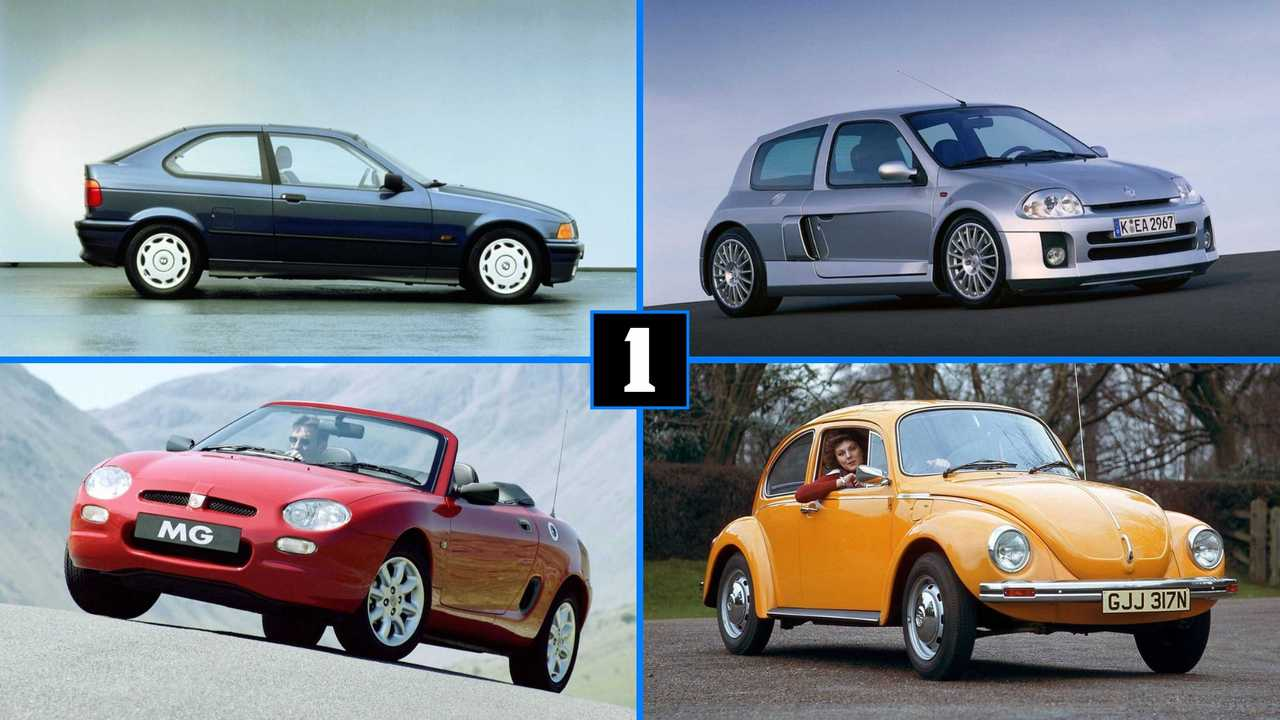 Dix petites voitures propulsion