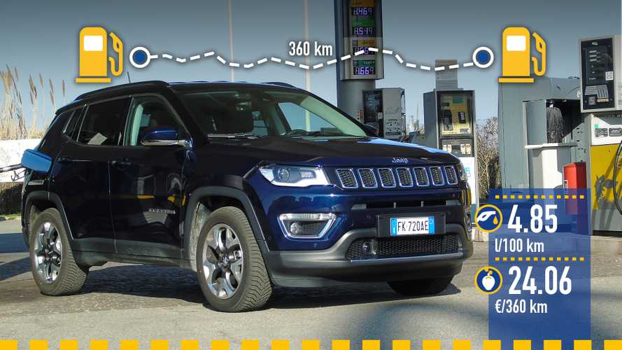 Jeep Compass 1.6 Diesel, la prova dei consumi reali