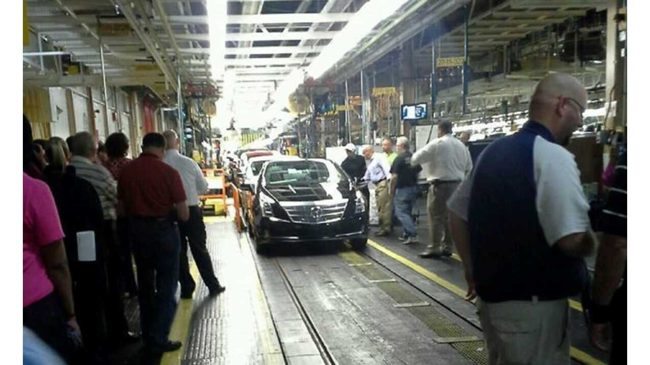 First ELR Rolls Off The Hamtramck Assembly Line On Wednesday, May 29th, 2013 (via AoL Autos)
