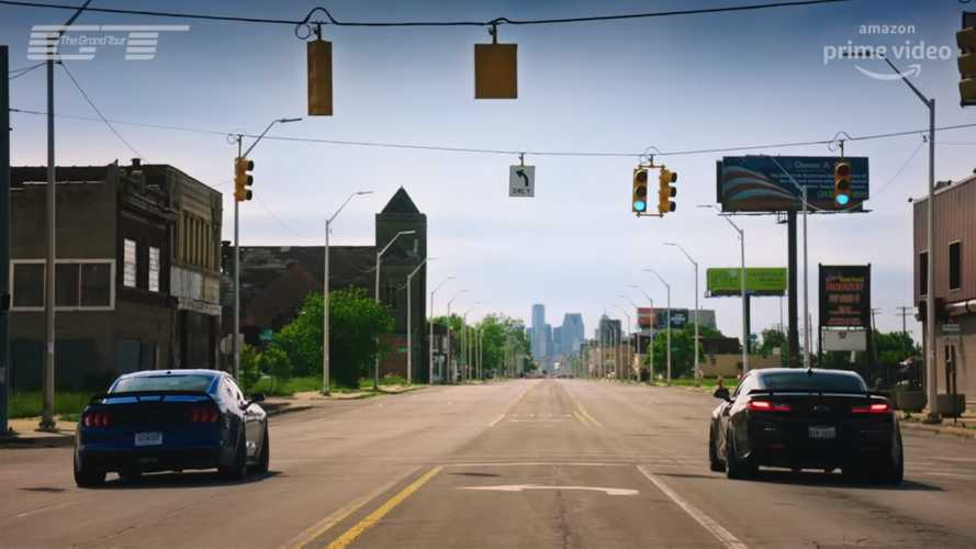See The Grand Tour Cast Drag Race American Muscle In Detroit