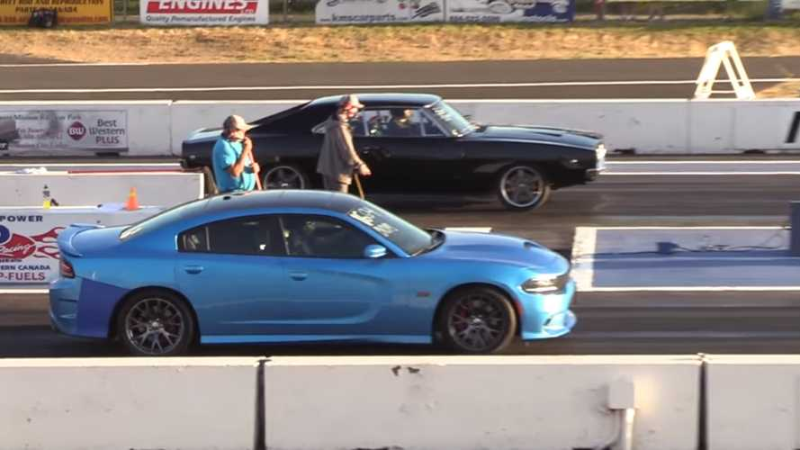 Classic vs. modern: 1968 Charger drag races 2018 model