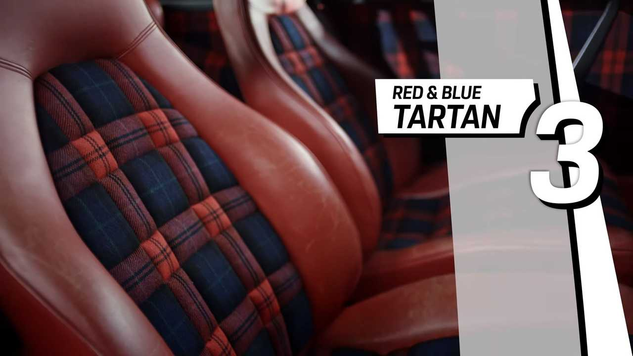 Porsche Top 5 fancy seat patterns - Red and blue Tartan