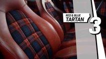 Modèles de siège Porsche Top 5 - Tartan rouge et bleu