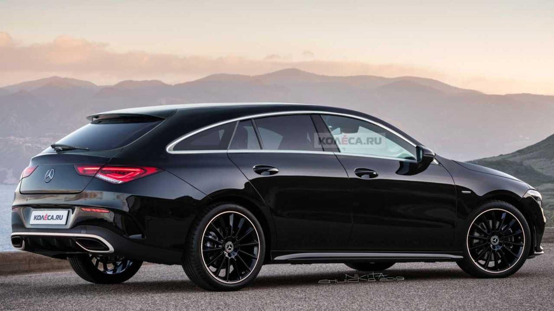 2020 Mercedes Cla Shooting Brake Rendered As Stylish Wagon