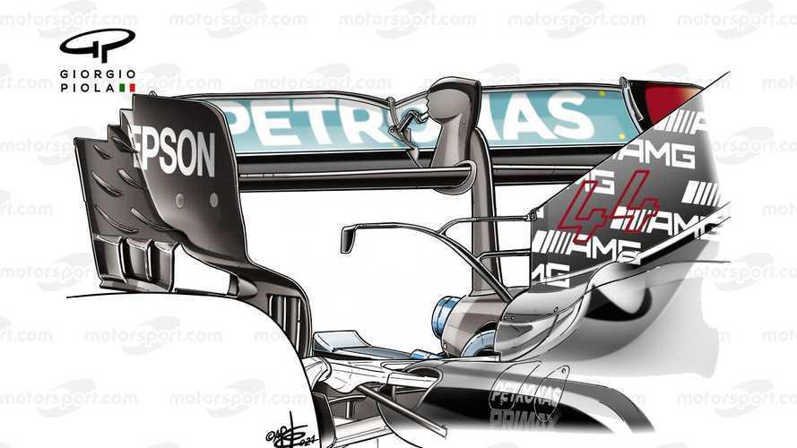 Mercedes: ala posteriore più scarica con gomme più morbide