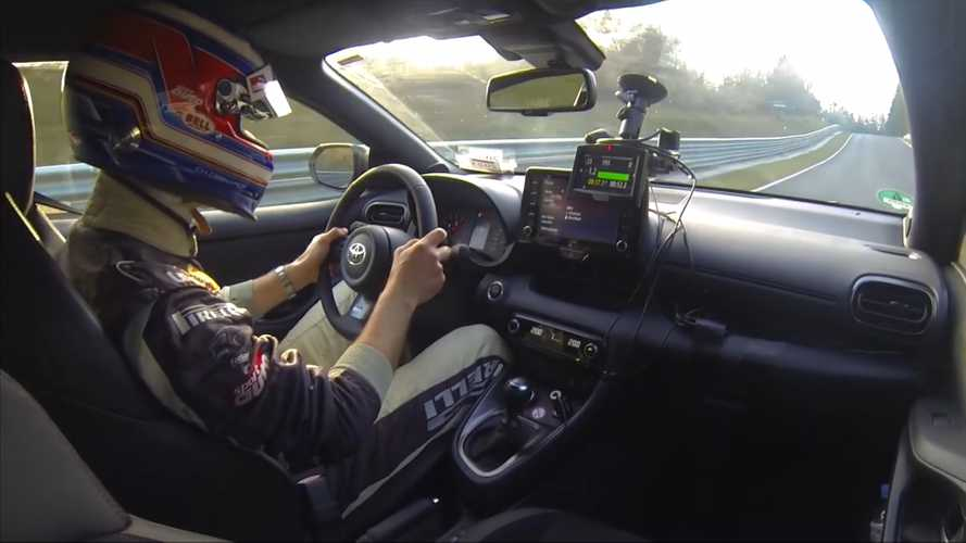 Watch Toyota GR Yaris Set A Respectable Nurburgring Lap Time