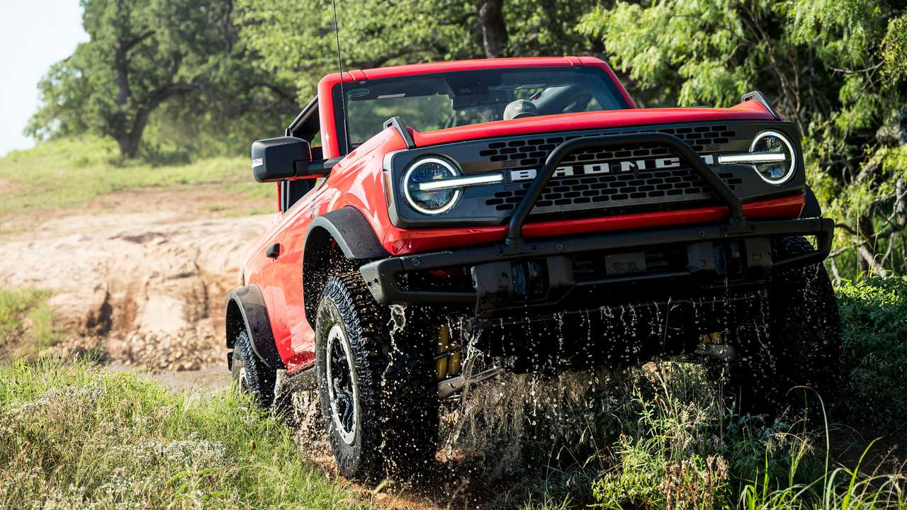 A head-on view of the 2021 Ford Bronco.