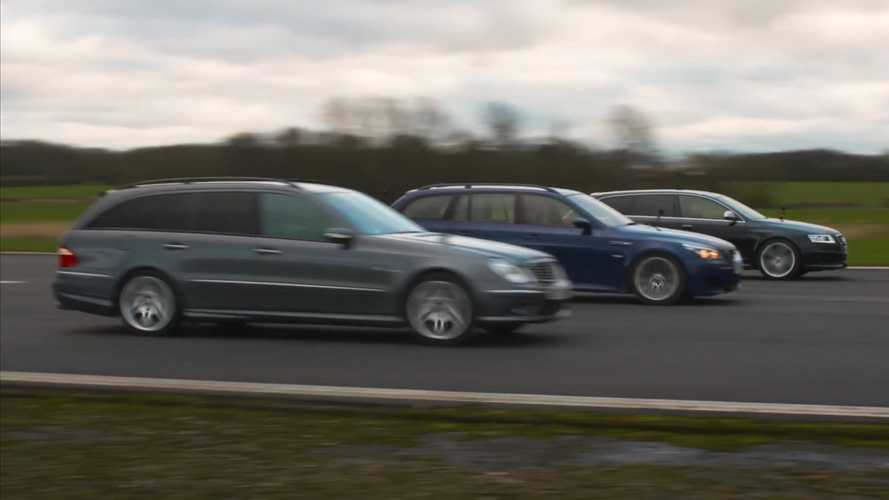 Wagon War: BMW M5, AMG E55, And Audi RS6 Drag Race Each Other