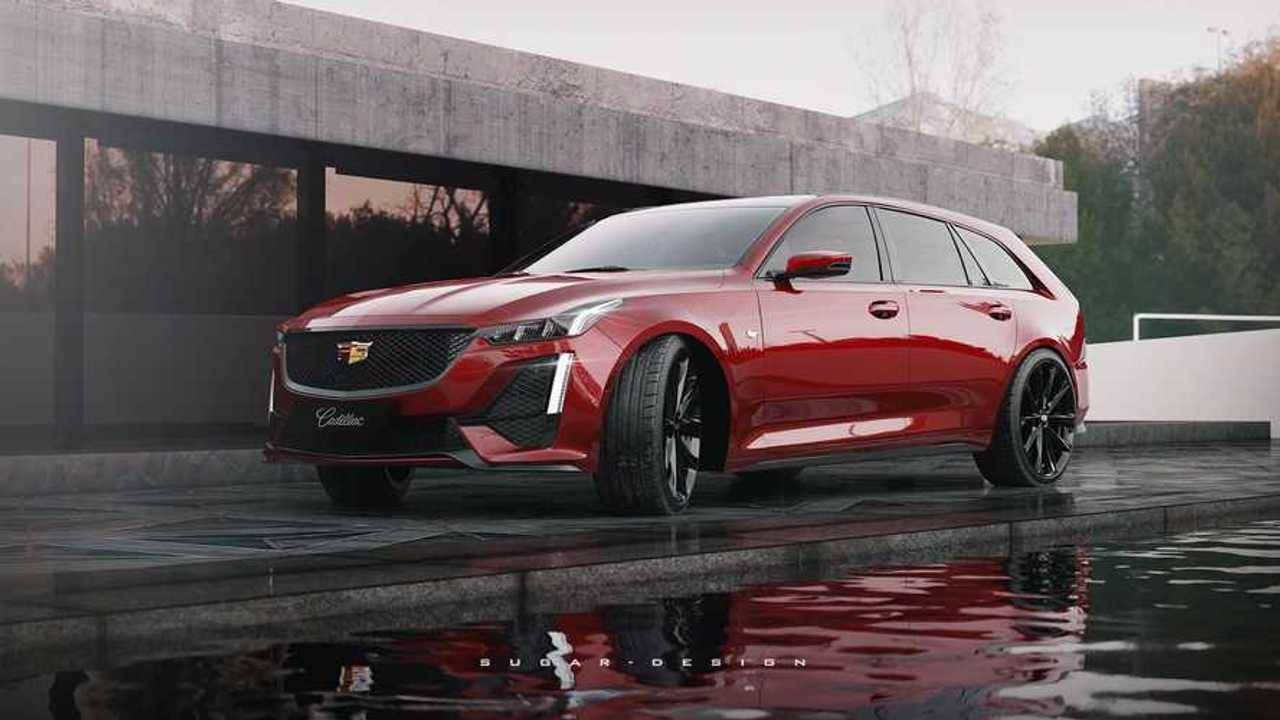 Rendering tidak resmi Cadillac CT5 Sport Wagon
