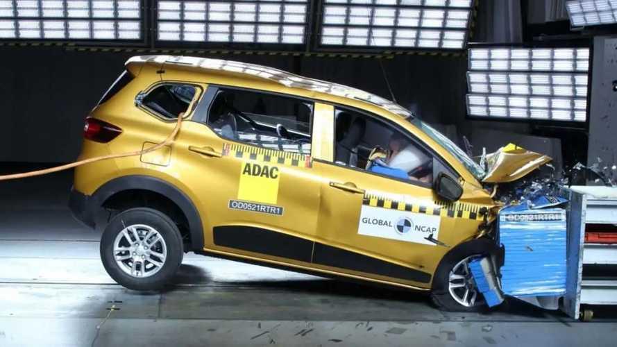 Renault Triber: minivan do Kwid alcança 4 estrelas em segurança