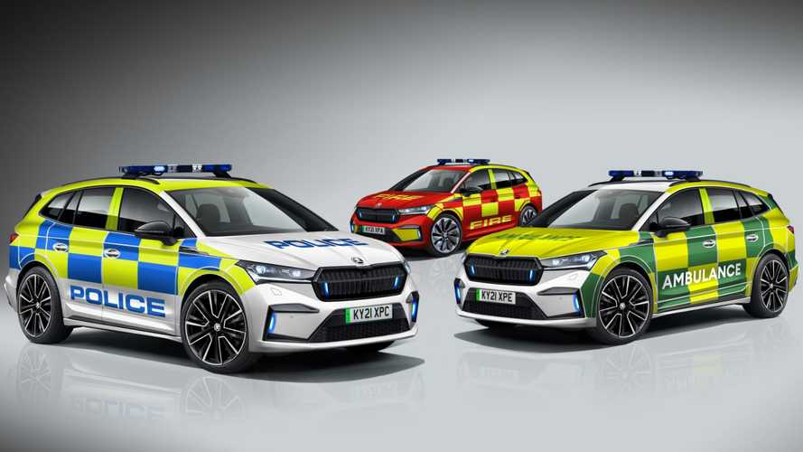 Skoda will offer Enyaq iV electric SUV to emergency services