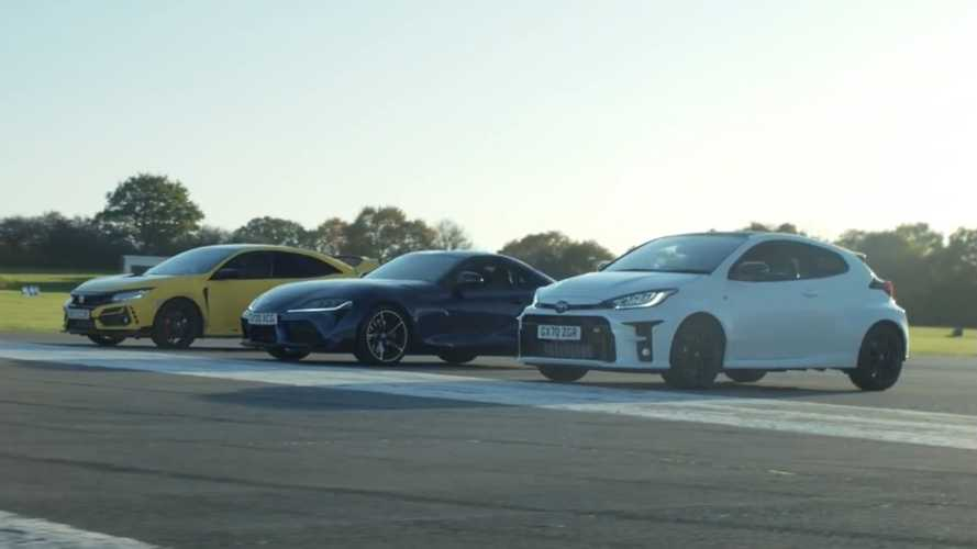Civic Type R battles Toyota GR Yaris, Supra for drag racing crown