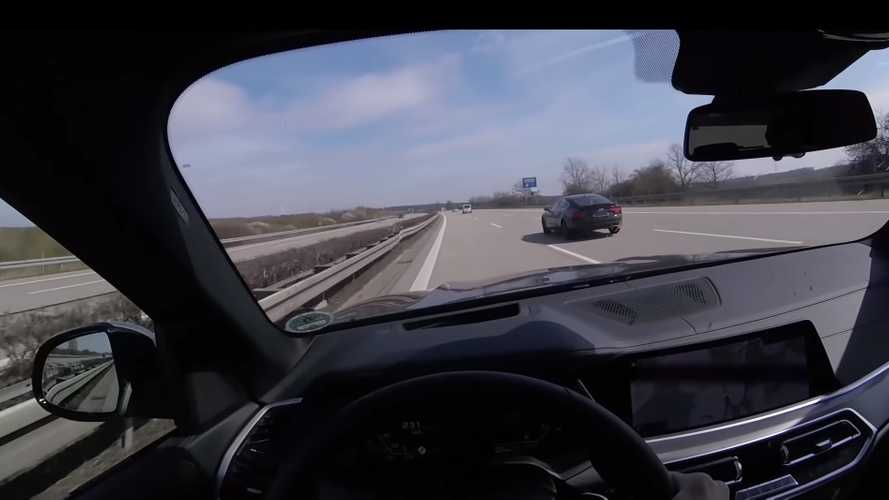BMW X5 M50d Tries But Fails To Catch Audi A7 On Autobahn
