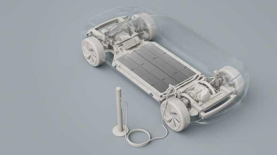 Volvo zeigt rätselhaftes Layout-Bild eines neuen Elektroautos