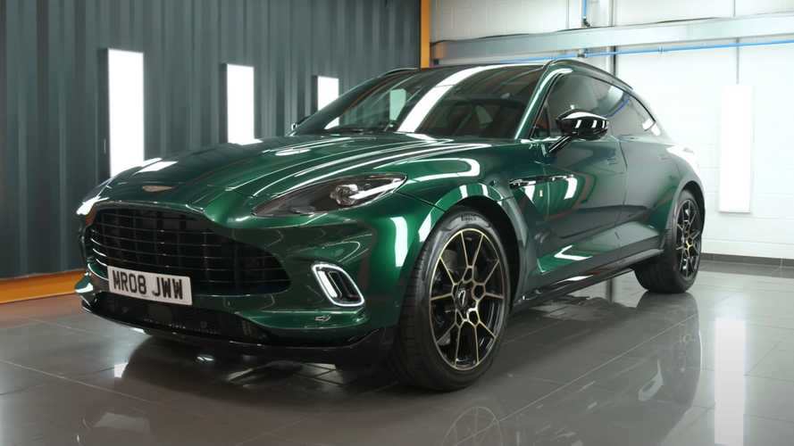 YouTuber's Bespoke Aston Martin DBX Wears Special Paint, Unique Badges