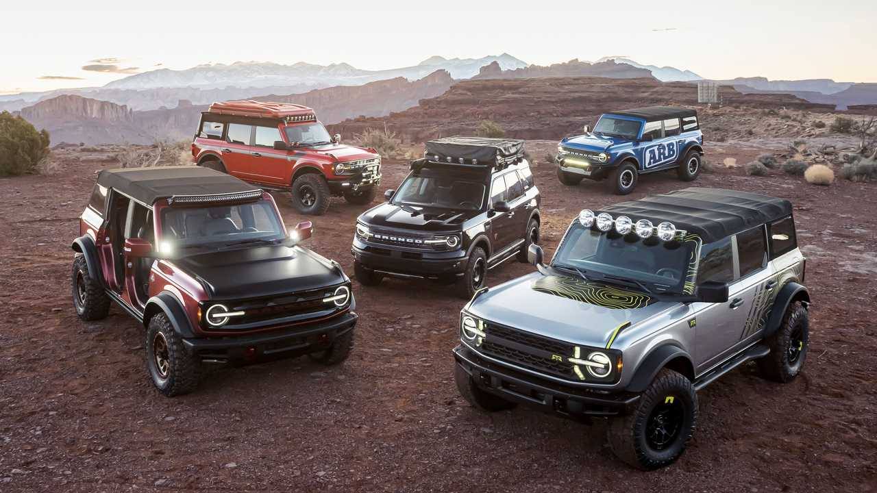 Ford Bronco and Bronco Sport accessories shown in Moab