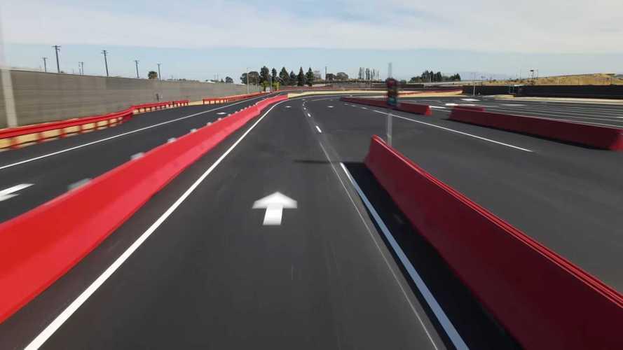 See Flyover Of Tesla's Refreshed Fremont Test Track