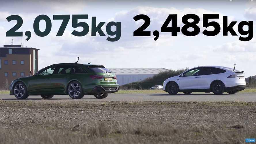 Tesla Model X Performance Drag Races Audi RS6 Avant In EV Vs ICE Duel