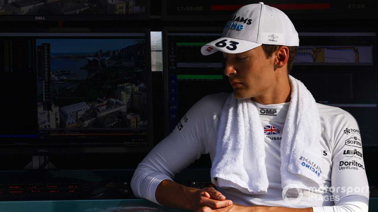 George Russell at Azerbaijan GP 2021