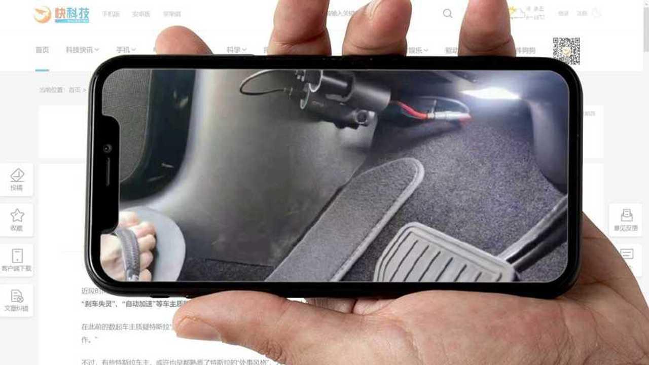 Çin'de Tesla'lara Pedal Kameraları Kuruluyor