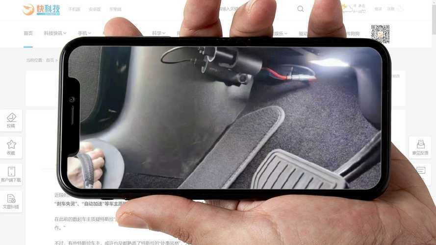 Çinli Tesla kullanıcıları, araçlarına pedal kameraları taktırıyor