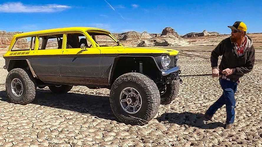 Stuck Toyota Tacoma Saved By Crazy Custom Corvair Off-Road Wagon