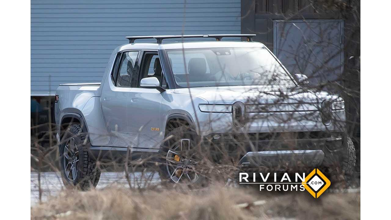 New Images Of Rivian R1T Electric Truck Show Fancy Roof Rack