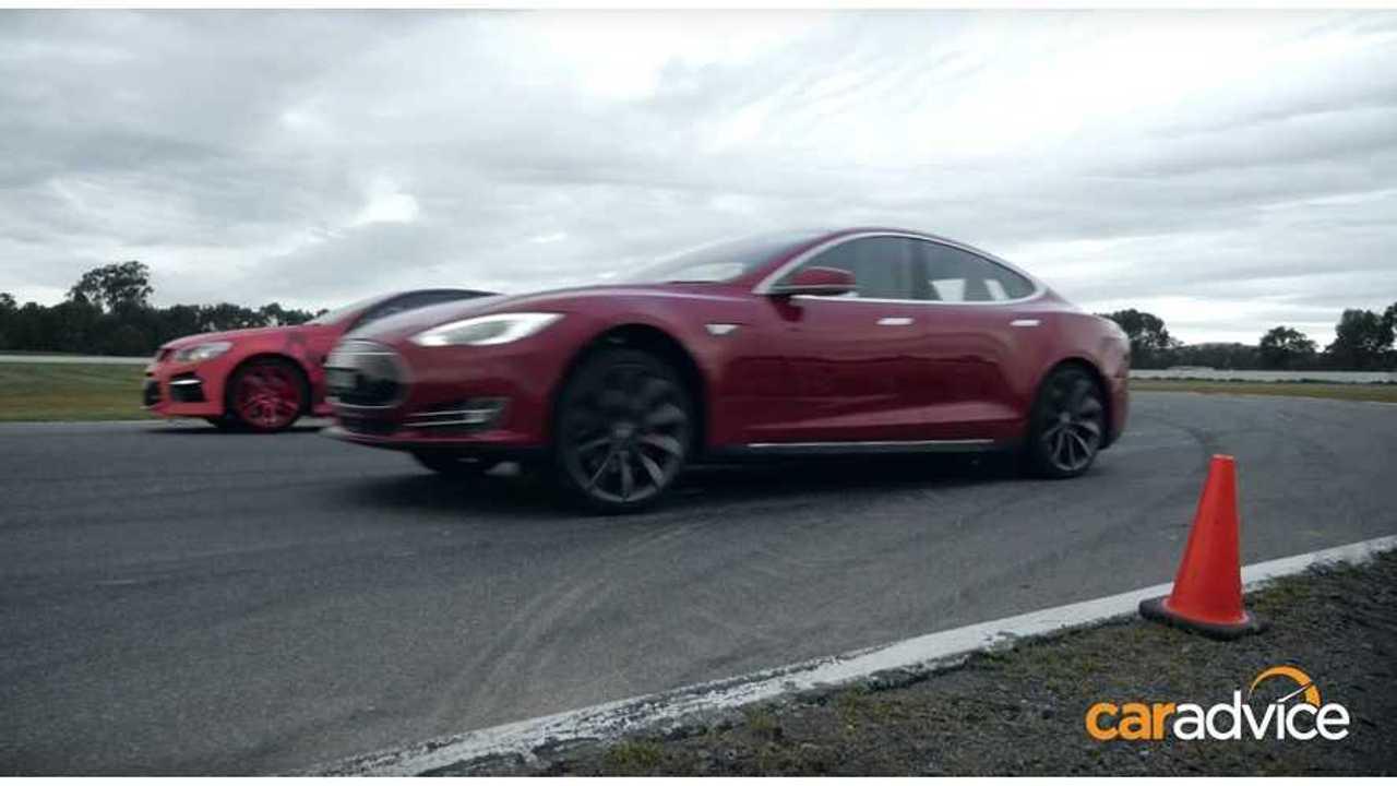 Tesla Model S P85D went Insane in Australia