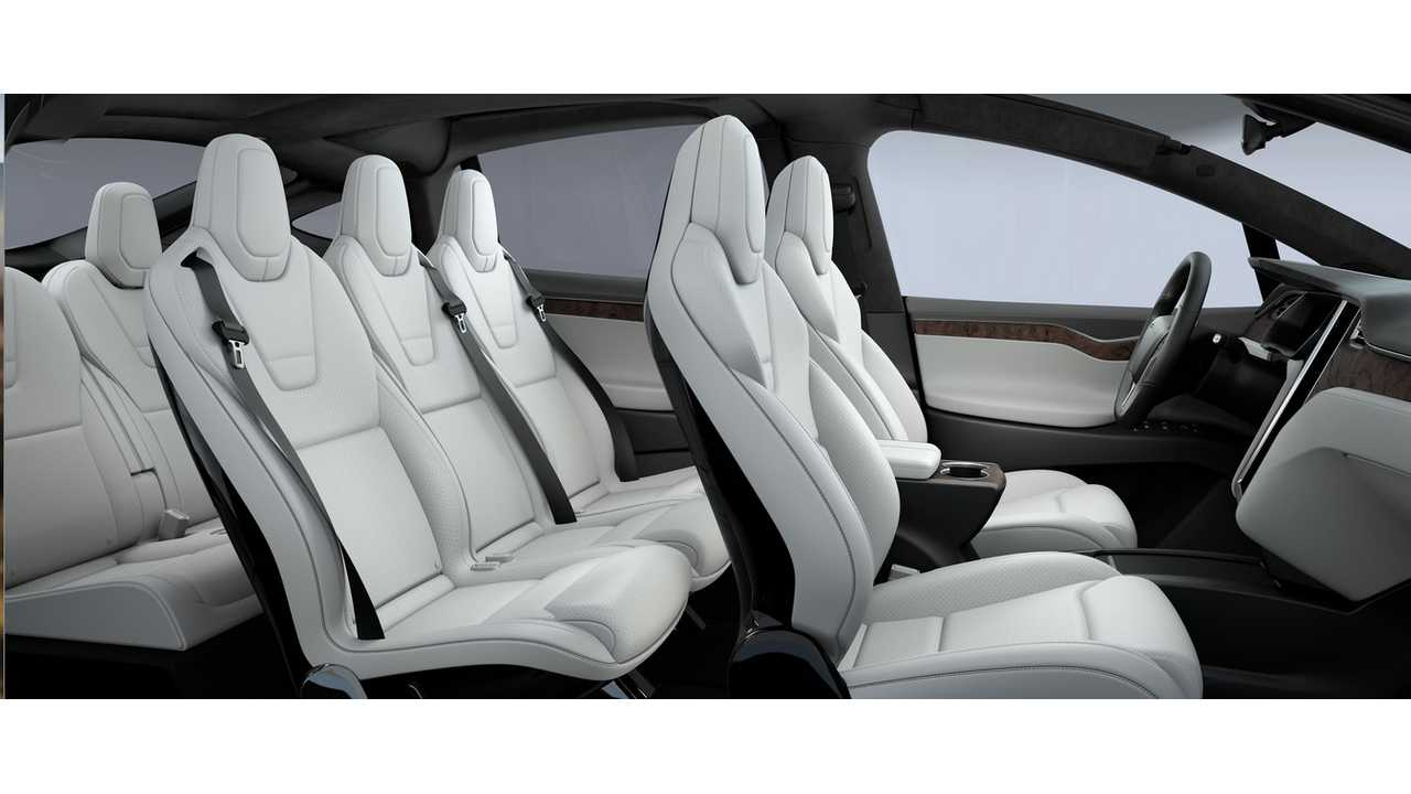Tesla Offers Ultra White Synthetic Leather Option For Model X To Appeal To Vegans