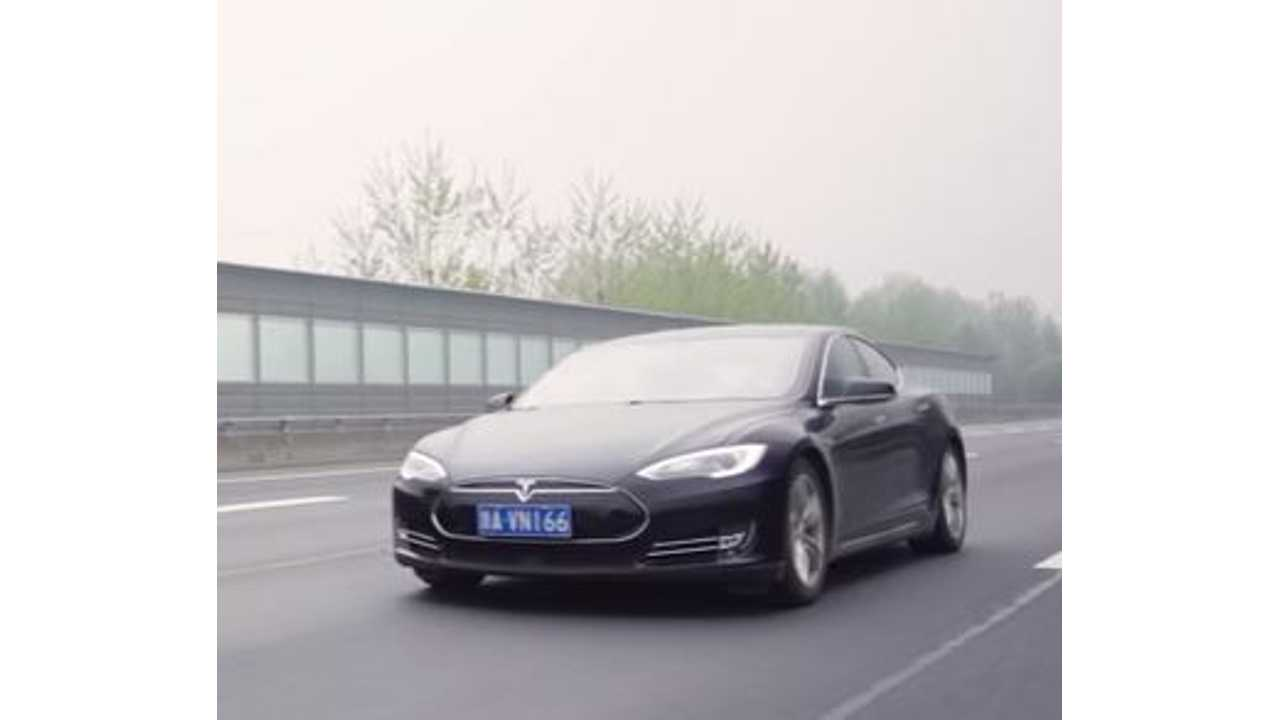 Emissions-Free Tesla Model S Road Trip In China - Video