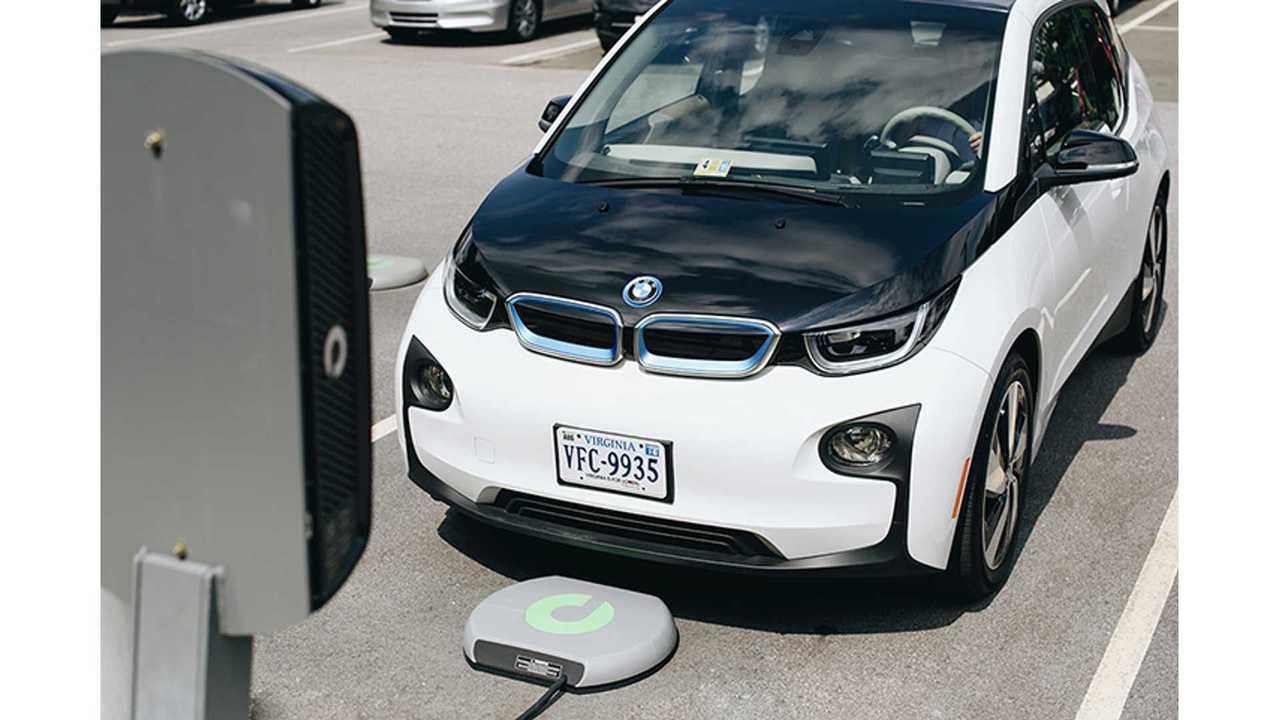BMW i3 with 7.2 kW Plugless wireless charging