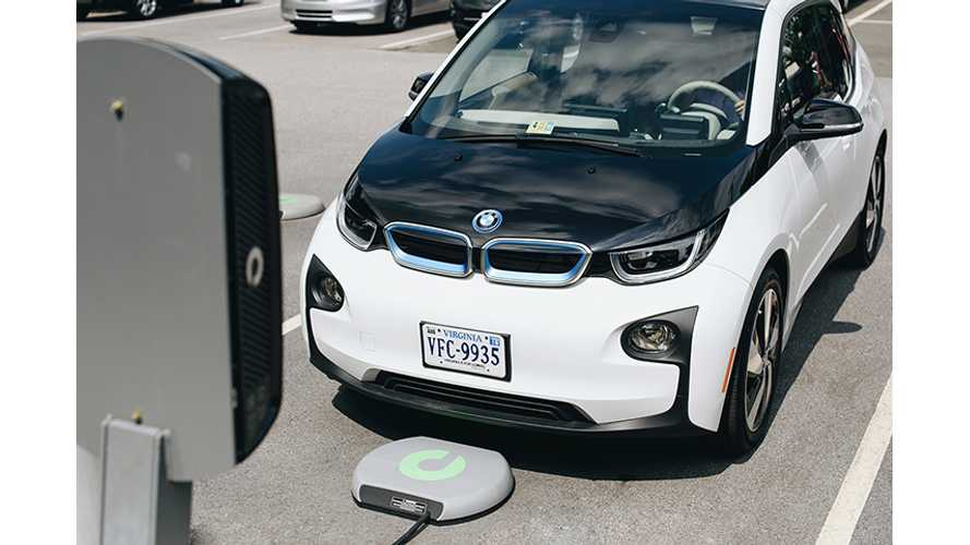 Evatran Introduces 7.2 kW Plugless Charging For BMW i3 - Video