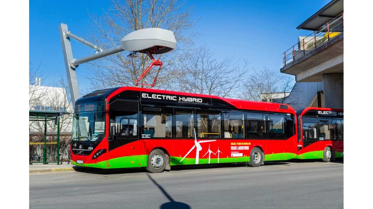 Volvo's electric hybrid buses in operation in Stockholm