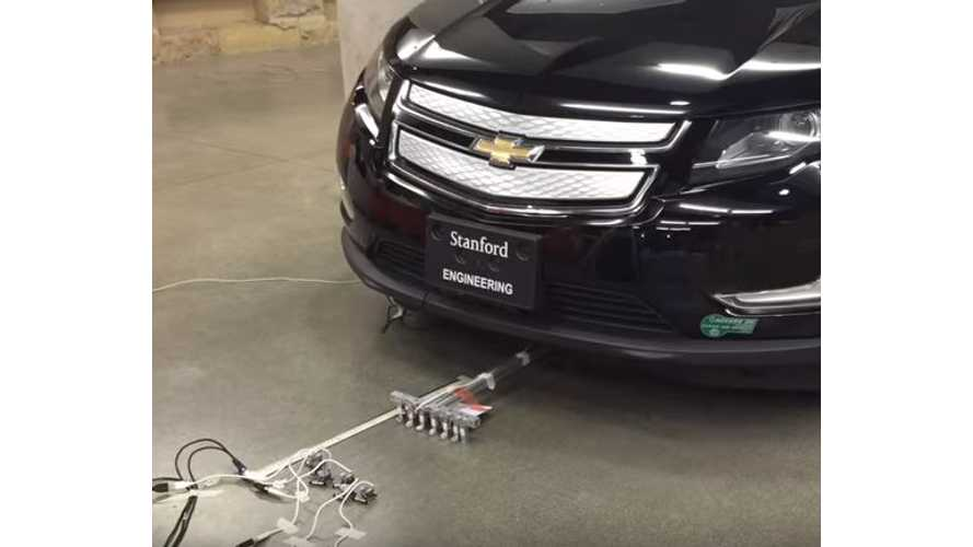 Microbots Tow A Chevrolet Volt - Video