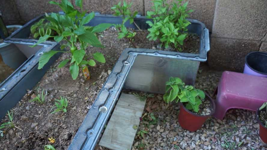 Chevy Volt Battery Becomes Vegetable Garden + Quick Battery Salvage